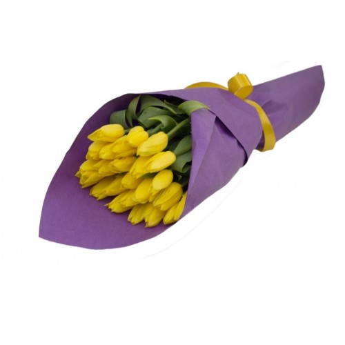 Тюльпаны в матовой пленке 6